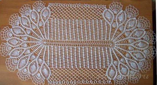Вязание овальных салфеток