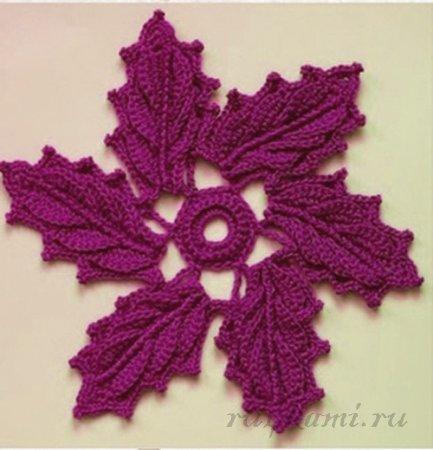 Схема вязаного цветка