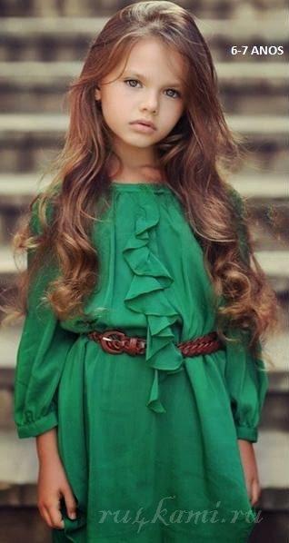Платье для девочки 7 лет шьем сами