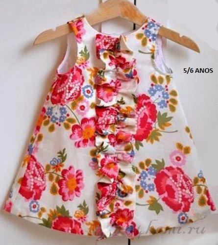 Платье своими руками для девочки фото