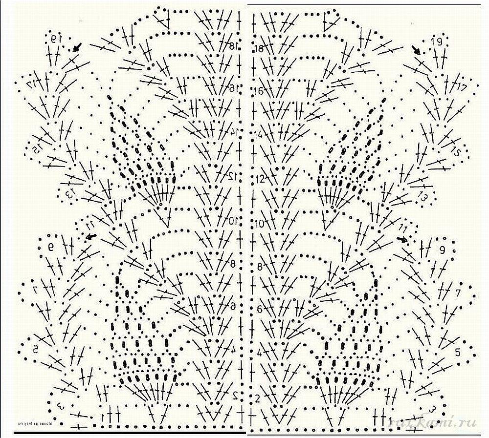 Вязание крючком узор ананасы 12