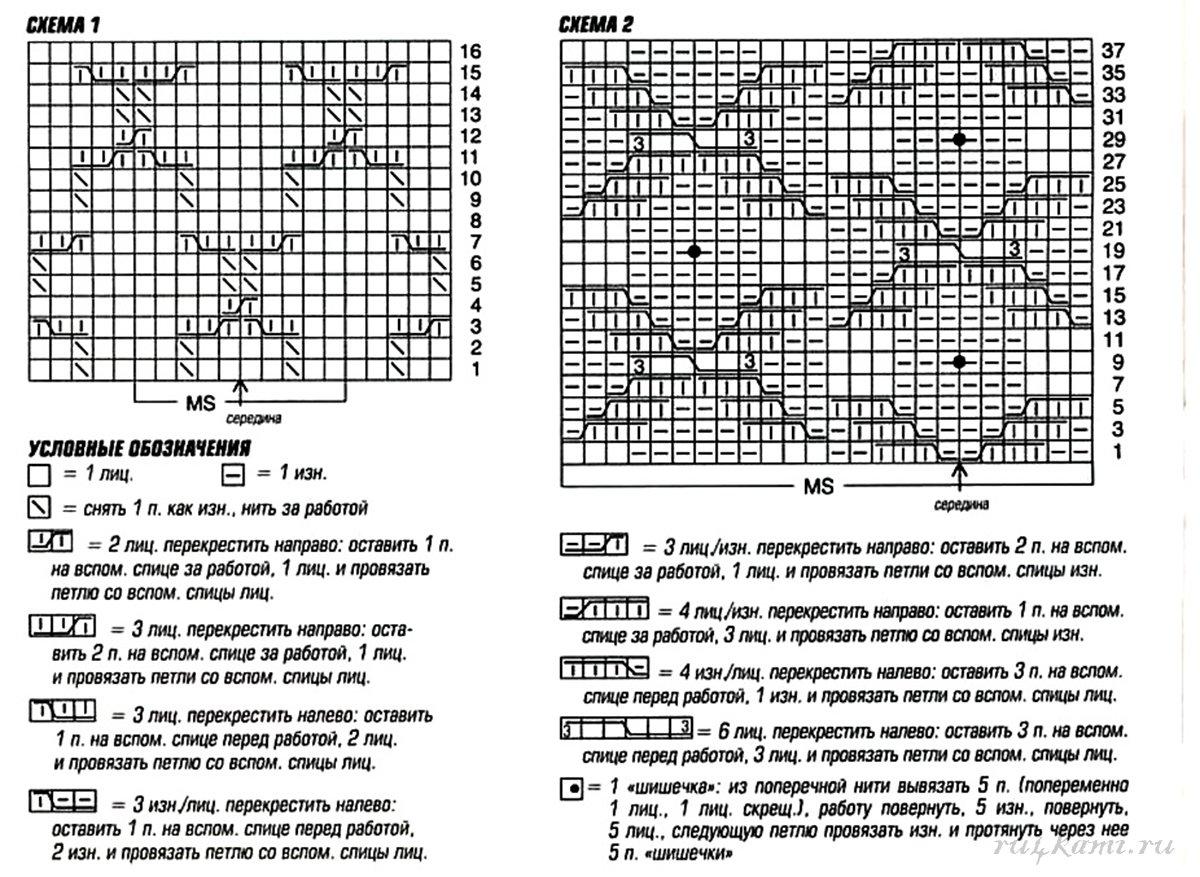 Вязание. схемы вязания соты 147