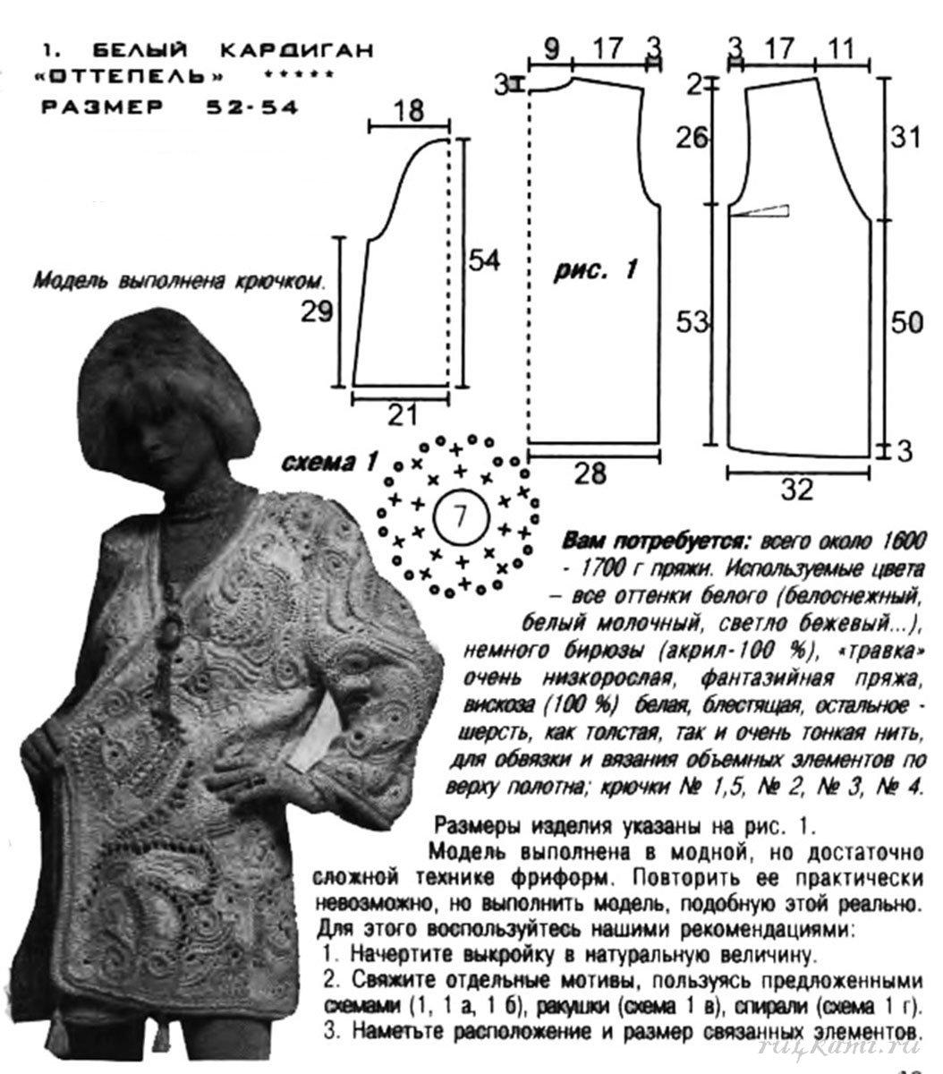 Вязание на спицах размер 54 56 15