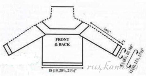 Роскошный вязаный пуловер спицами