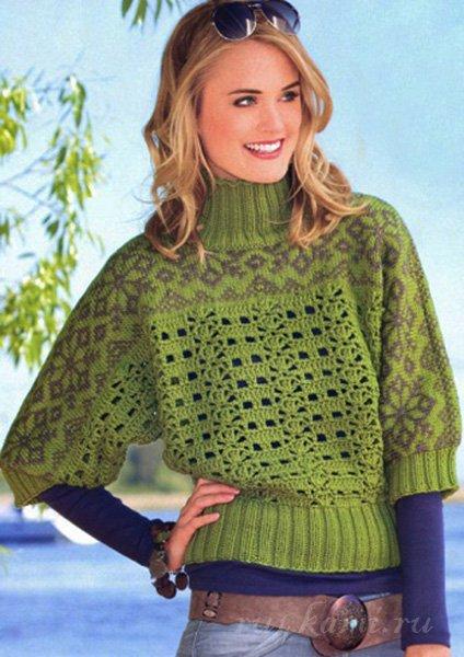 красивый пуловер вязание для женщин сайт ручками делаем вещи