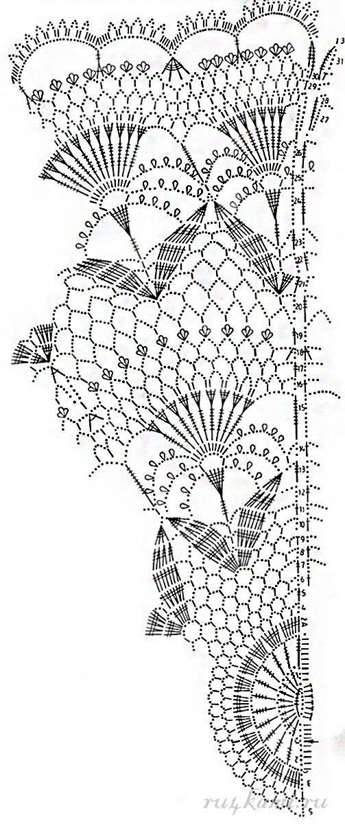Ажурное вязание штор
