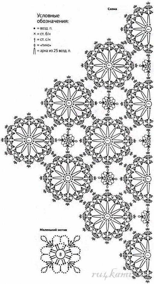 Шали, палантины, накидки связанные крючком, описание 41