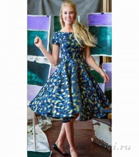 Легкие выкройка летнего платья своими руками122