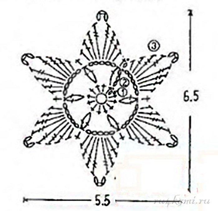 Звезда пятиконечная крючком схема