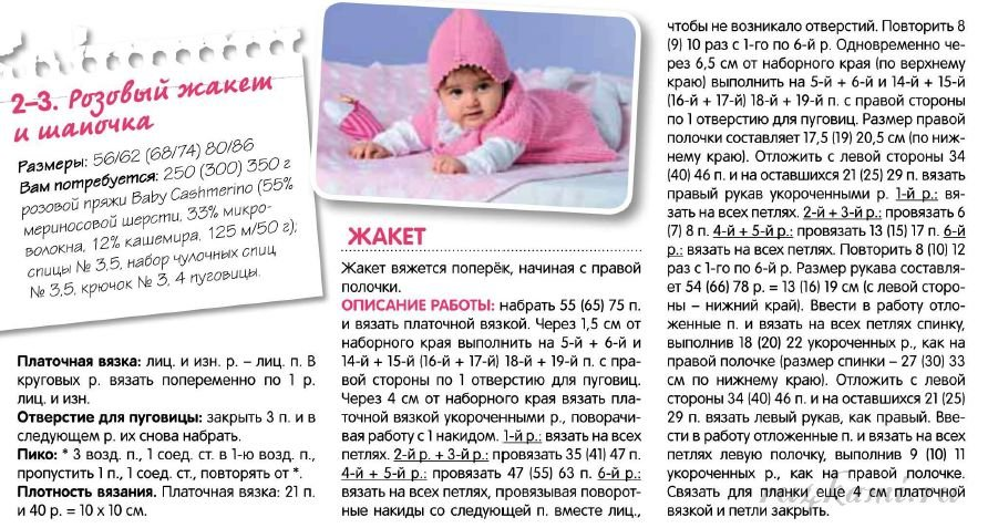 Вязаные детские вещи спицами для новорожденных схемы и описание