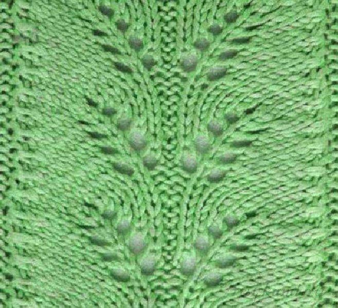 Узоры для ажурный шарф