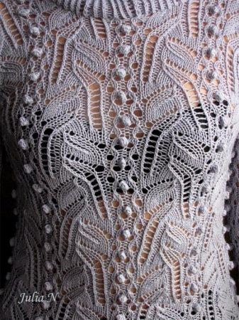 Ажурный узор спицами для свитера