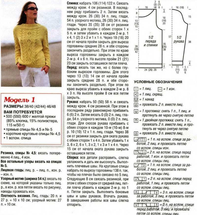 Вязание спицами для женщин пуловеры кофты