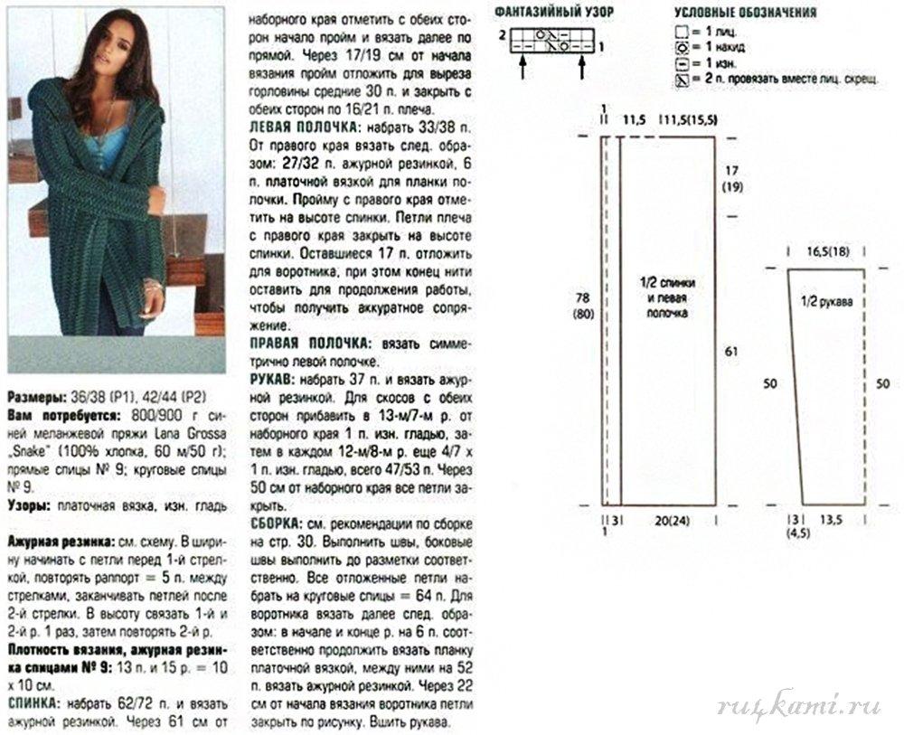 Классические кардиганы для женщин спицами схемы